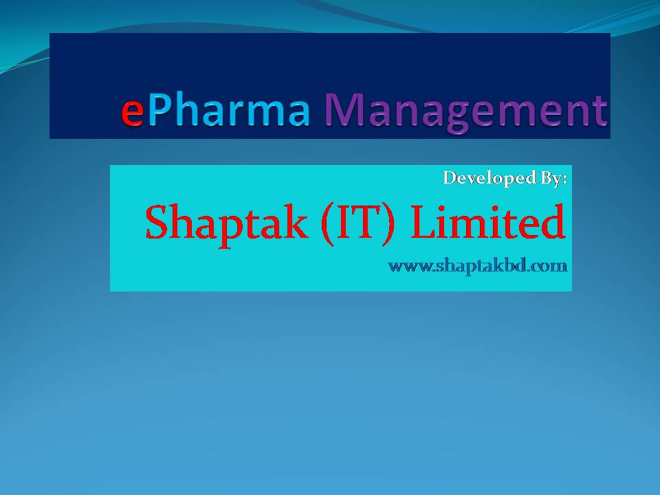 ePharma Management
